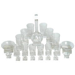Collection Libbey Knickerbocker 3400 Line Glassware by Edwin Fuerst, circa 1939