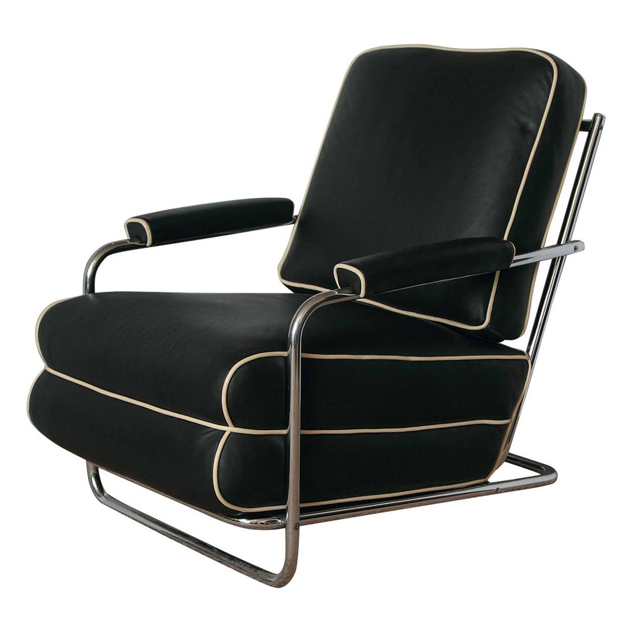 Amazing Gilbert Rohde Streamline Art Deco Lounge Chair For Troy Sunshade For Sale
