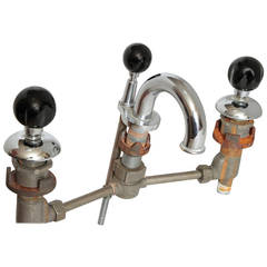 George Sakier Designed Machine Age Faucet Set for Standard Sanitary, circa 1933