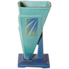 Cubist, Geometric 1930s Art Deco Signed British Vase by Bretby