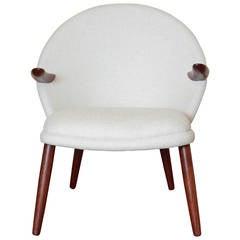 Mid-Century Modern Danish Style Armchair Vintage Restored