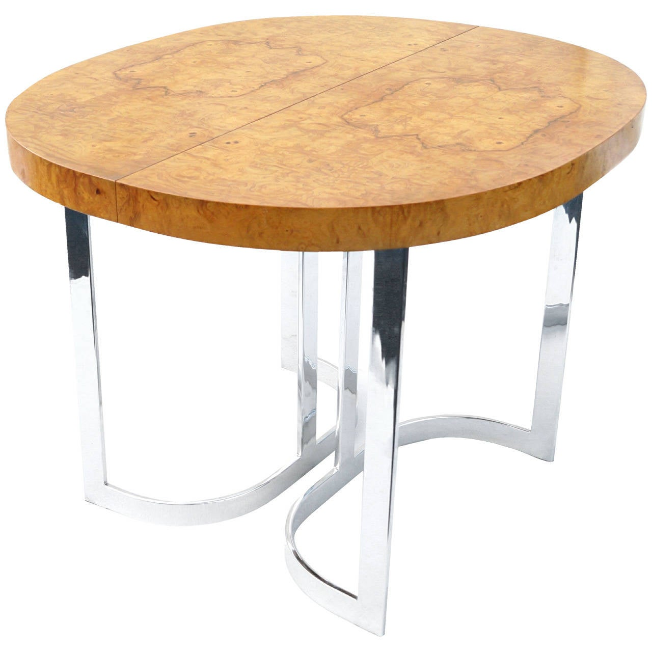 Dining Table For Small Spaces In The Manner Of Milo Baughman At