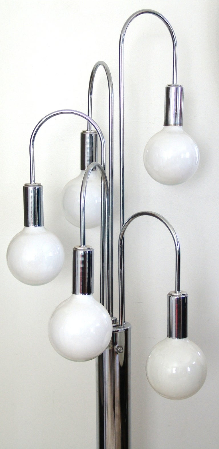 Mid Century Modern Chrome Floor Spider Lamp For Sale At 1stdibs