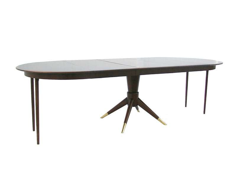 Extension dining table for small to large space attributed for Extendable tables for small spaces