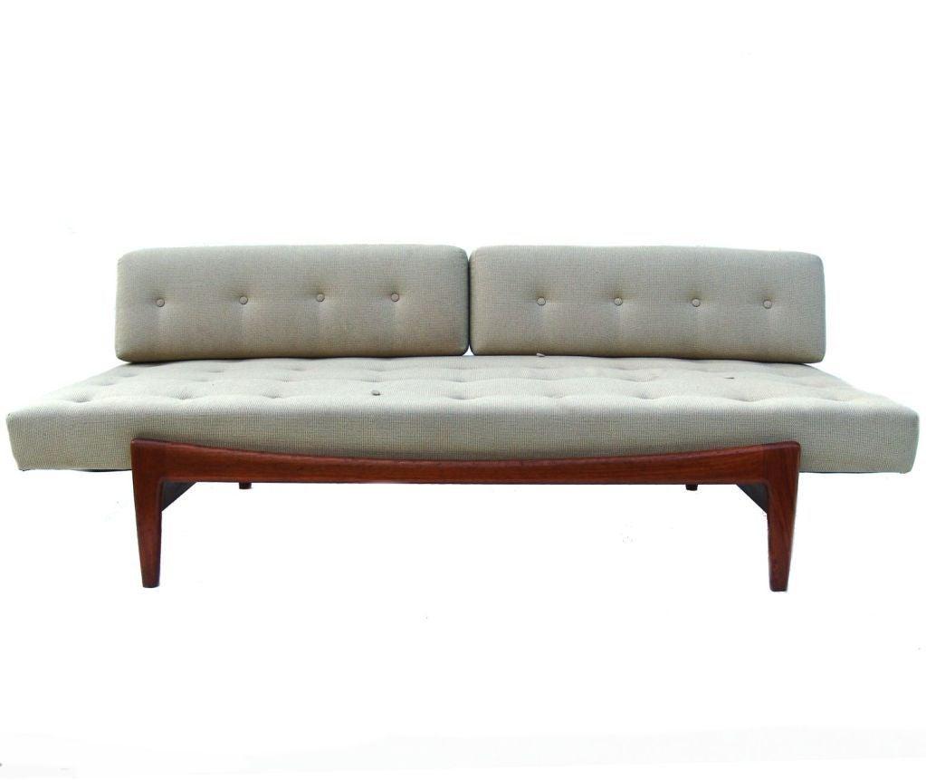 Ib Kofod Larsen Mid Century Danish Modern Teak Daybed Sofa