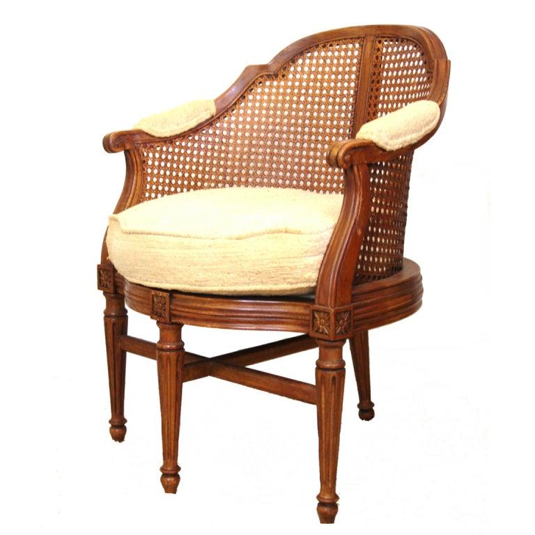 fauteuil de bureau louis xv style rosette side chair at. Black Bedroom Furniture Sets. Home Design Ideas