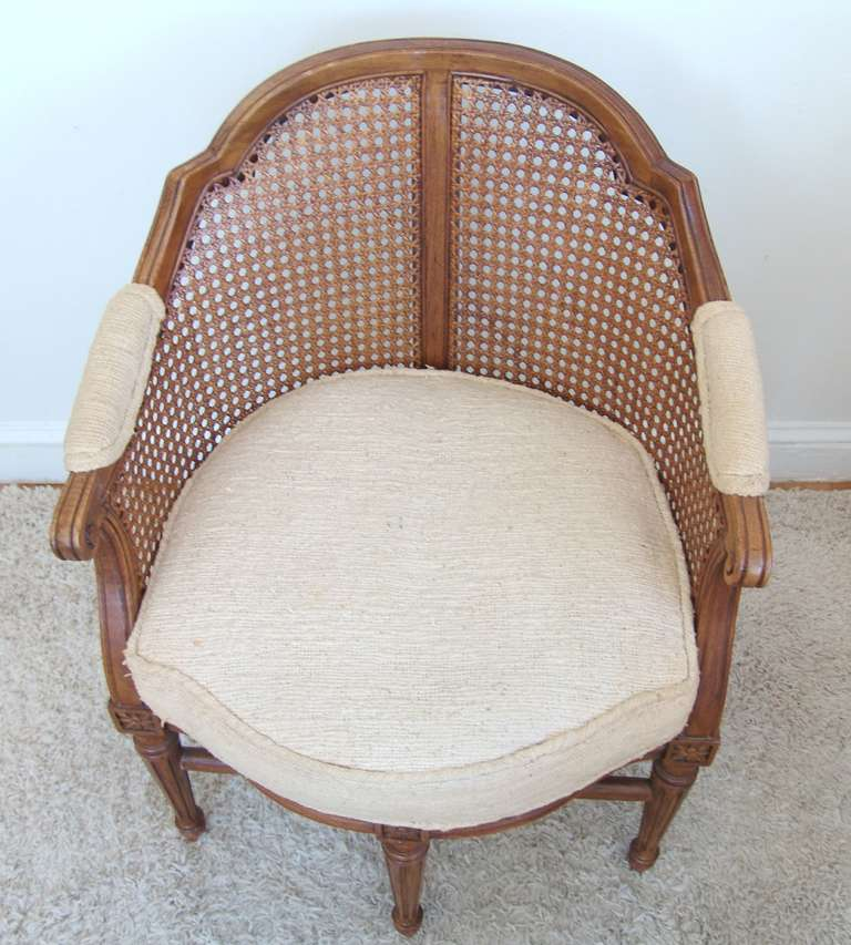 Fauteuil De Bureau Louis Xv Style Rosette Side Chair Image 7