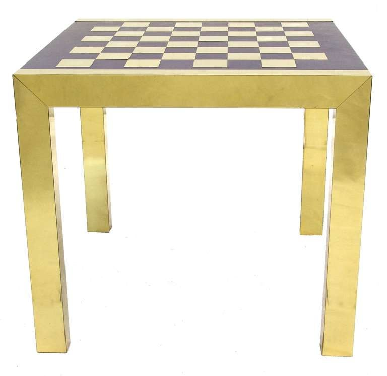Rare Paul Evans Modern Chess Set Game Table with Lounge Accent