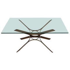 Mid-Century Modern Bronze Roger Sprunger for Dunbar Coffee or Cocktail Table