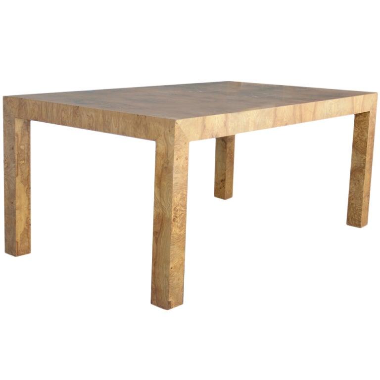 Milo Baughman Burlwood Parsons Dining Table at 1stdibs : XXXDSC072921 from www.1stdibs.com size 768 x 768 jpeg 28kB
