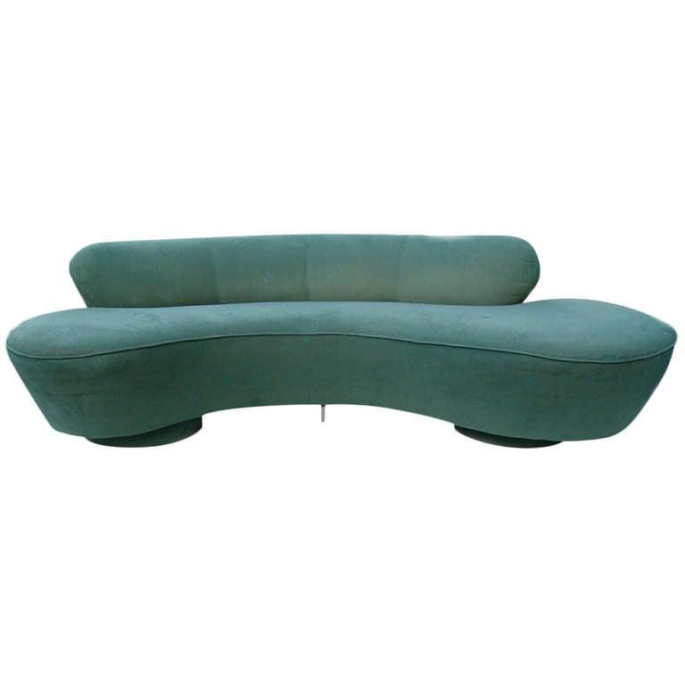 Vladimir Kagan Directional Furniture Kidney Sofa Couch At 1stdibs