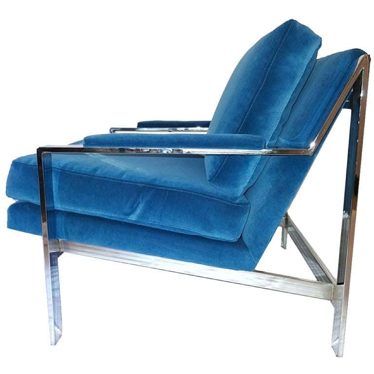 Milo Baughman Mid Century Modern Lounge Chair at 1stdibs