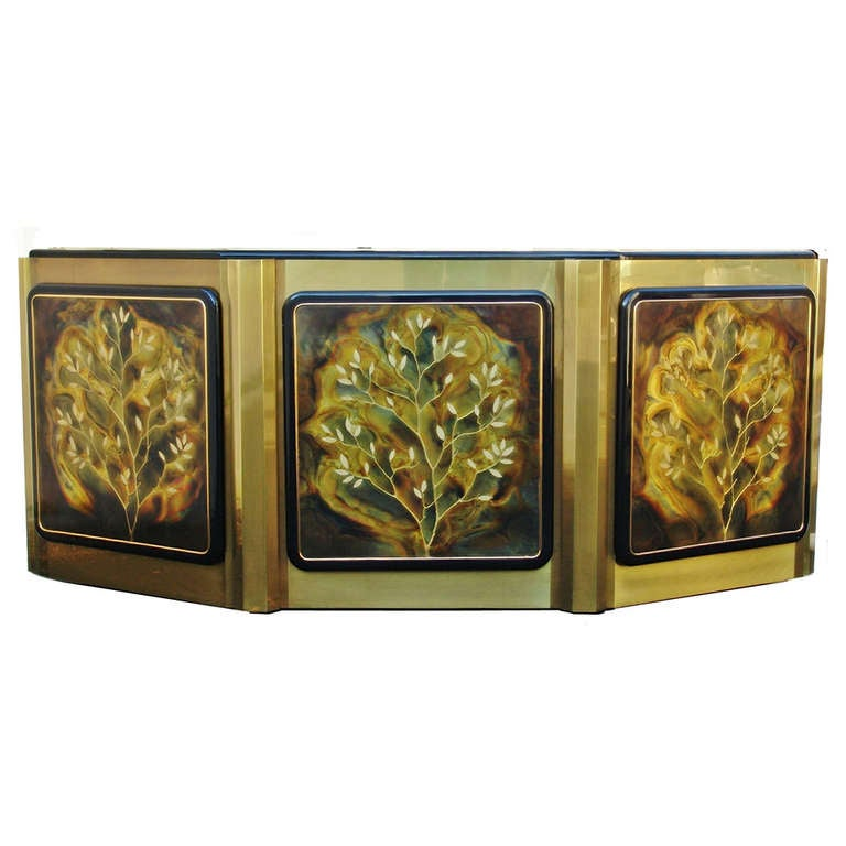 Bernhard Rohne for Mastercraft Tree of Life Credenza or Sideboard