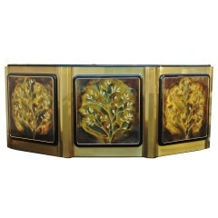 "Bernhard Rohne for Mastercraft ""Tree of Life"" Credenza Sideboard Cabinet"