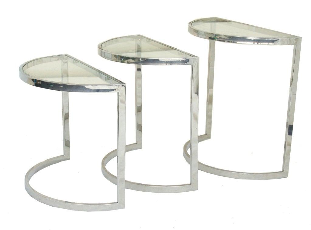 Nesting Snack Tables ~ Design institute of america chrome nesting snack side