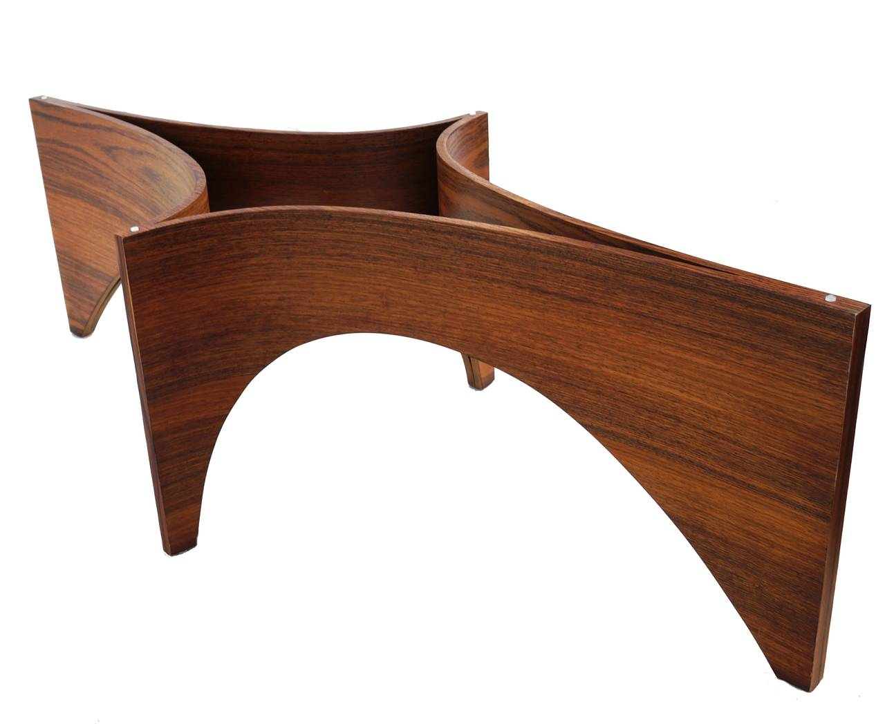 Mid Century Modern Sculptural Bentwood Glass Top Coffee Table For Sale 3