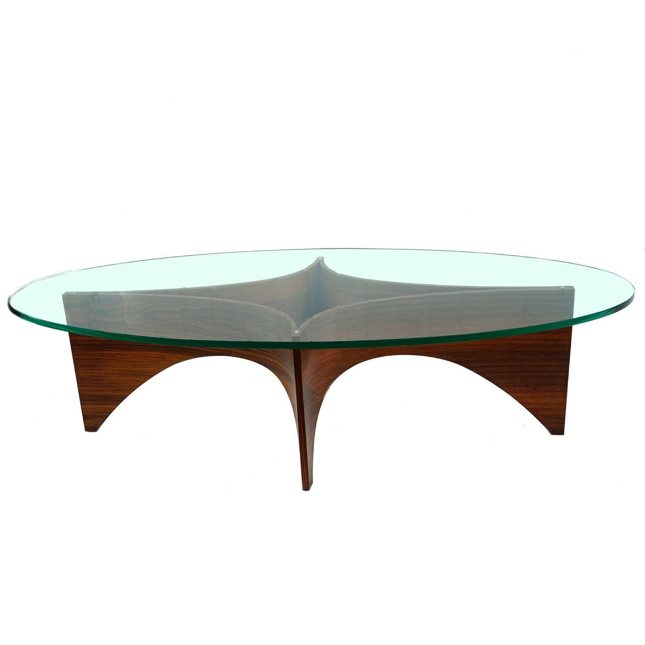 Mid Century Modern Sculptural Bentwood Glass Top Coffee Table At 1stdibs