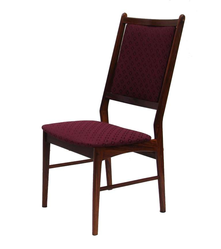 Six rosewood scandinavian danish modern dining chairs for sale at 1stdibs - Rosewood dining room furniture ...