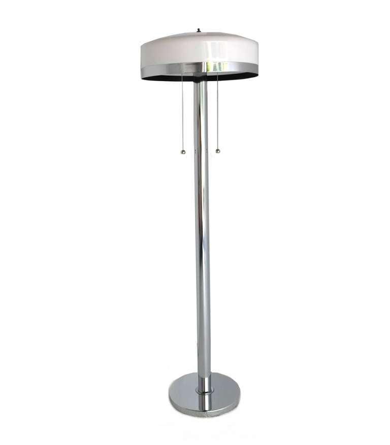 Mid Century Modern Chrome Floor Lamp For Sale At 1stdibs
