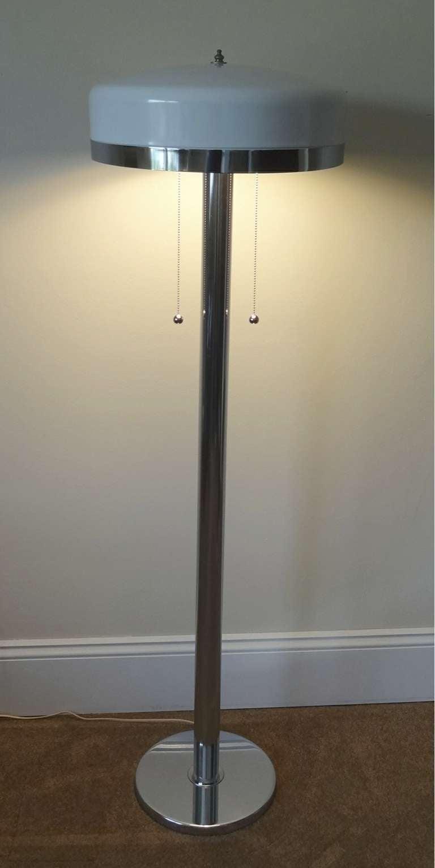 mid century modern chrome floor lamp for sale at 1stdibs. Black Bedroom Furniture Sets. Home Design Ideas