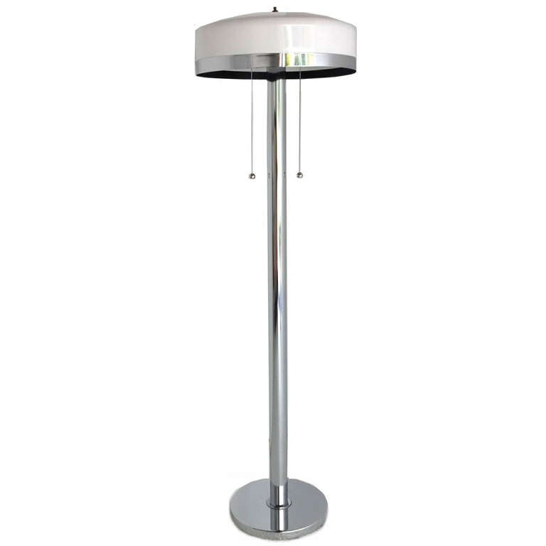 this mid century modern chrome floor lamp is no longer available. Black Bedroom Furniture Sets. Home Design Ideas