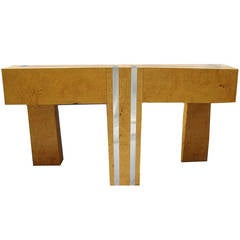 Burl Wood Pace Collection Console Table