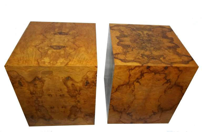 Milo Baughman Burl Wood Side End Tables 2. Milo Baughman Burl Wood Side End Tables at 1stdibs