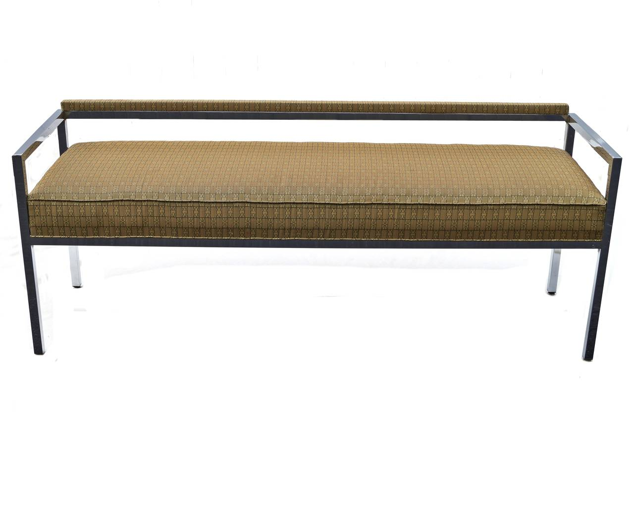 Milo Baughman Low Back Bench Sofa Or Loveseat