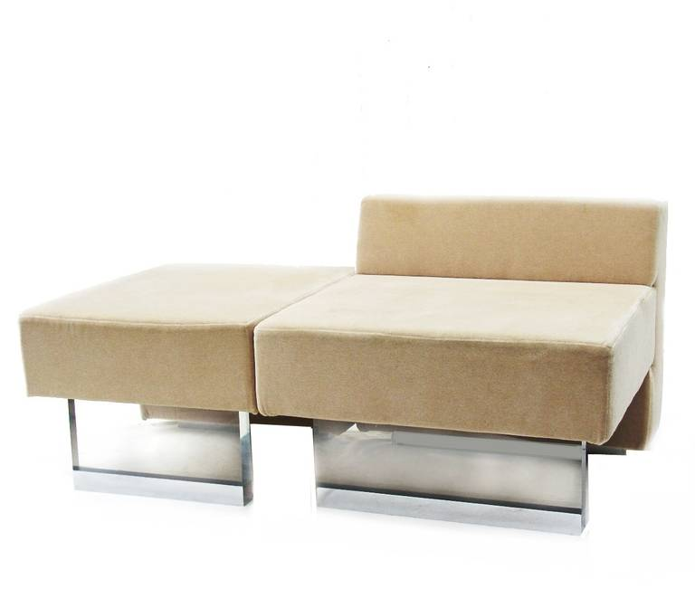 Vladimir Kagan Sofa Omnibus Lounge Chair and Ottoman for