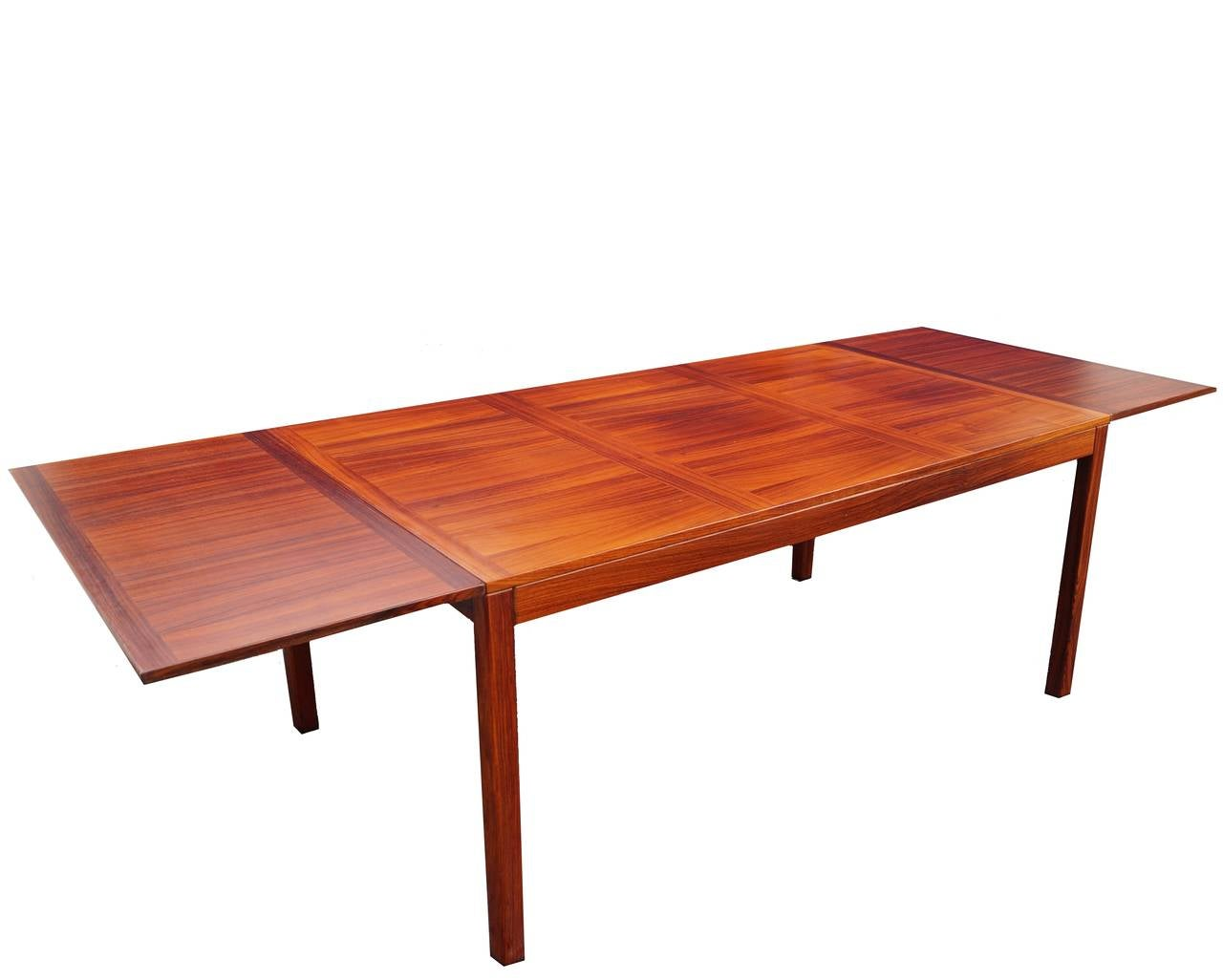Kai winding mid century danish modern rosewood drop leaf for Drop leaf dining table