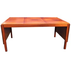 Kai Winding Mid-Century Danish Modern Rosewood Drop-Leaf Dining Table