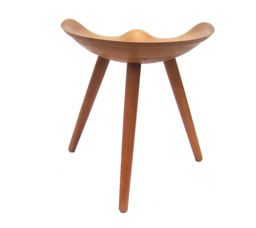 taburet m stool ~ sculpted taburet stool by mogens lassen at 1stdibs