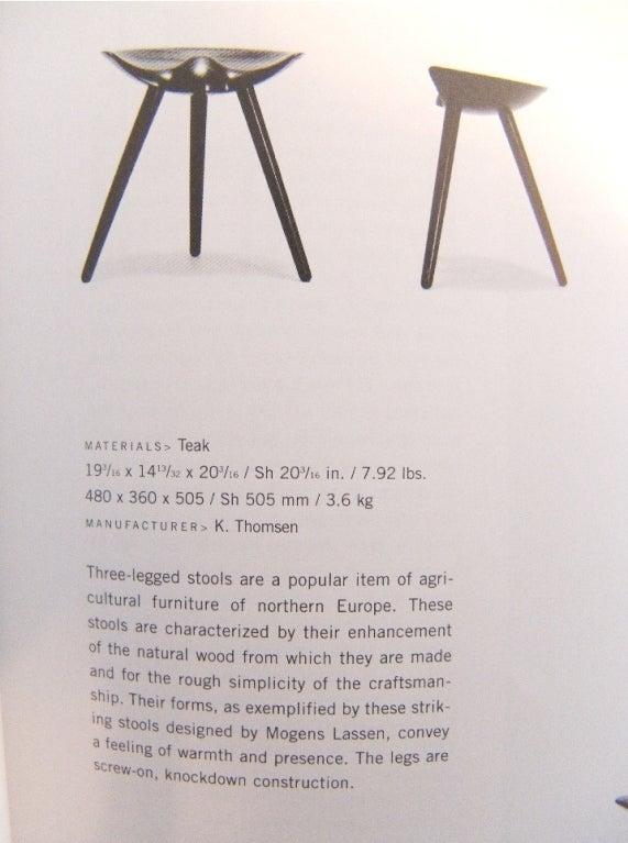 taburet stool ~ sculpted taburet stool by mogens lassen at 1stdibs