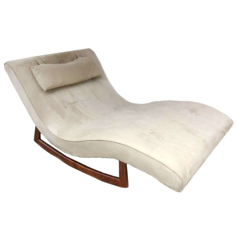 adrian pearsall craft associates lounge chair rocking chaise rocker at 1stdibs