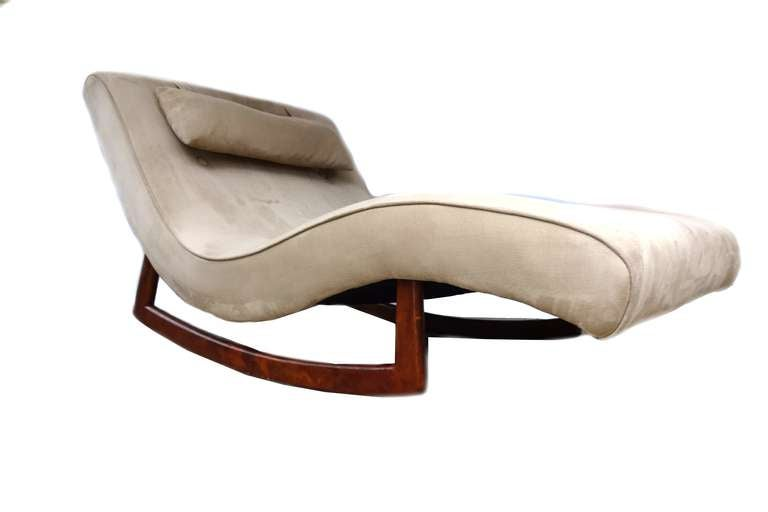 adrian pearsall craft associates lounge chair rocking