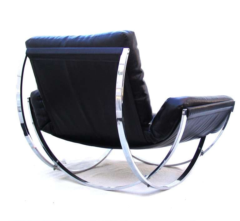 Stendig Mid Century Modern Leather Lounge Chair and