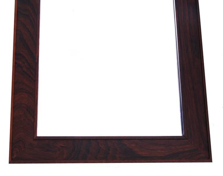 Mid century modern rosewood long wall mirror by jansen for Modern long mirror