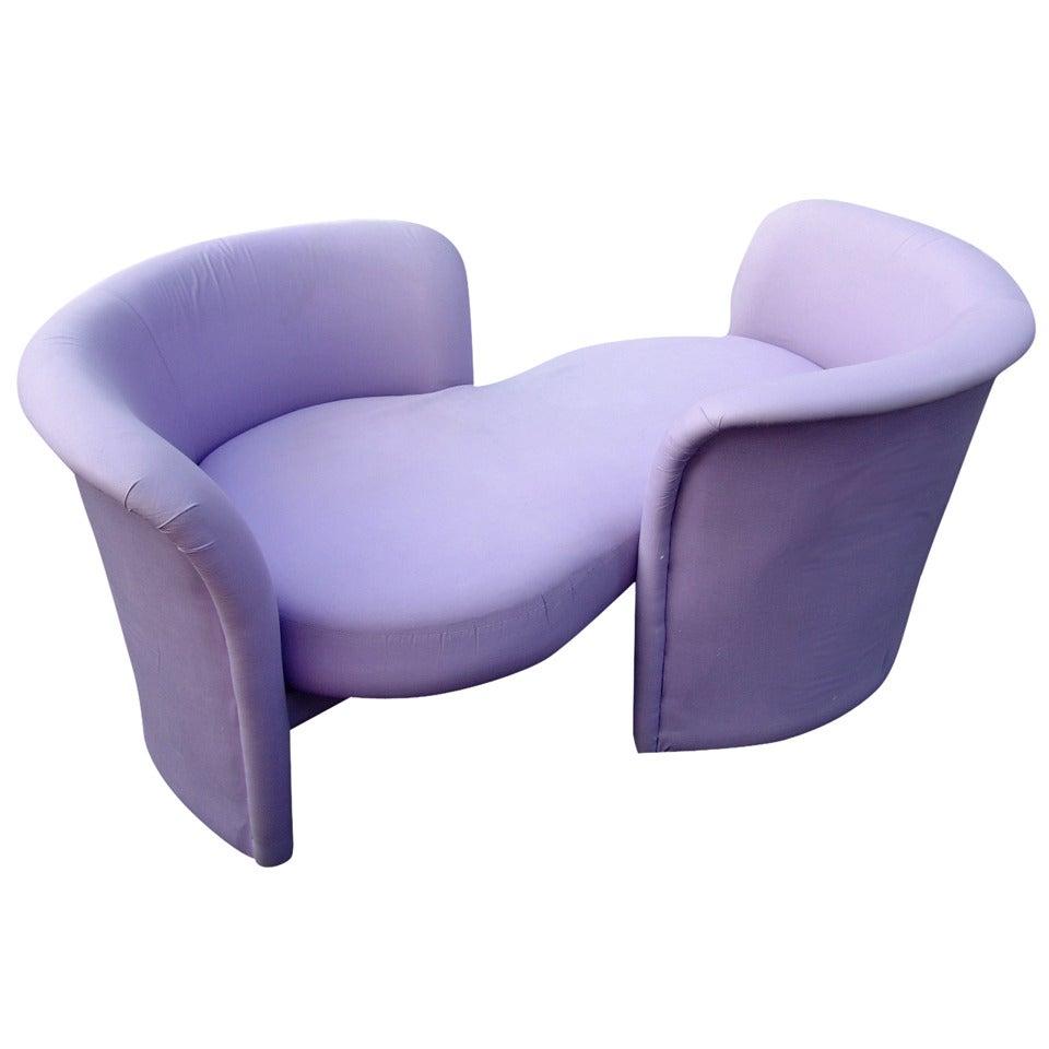 Milo baughman for thayer coggin t te t te loveseat sofa - Tete a tete sofa ...