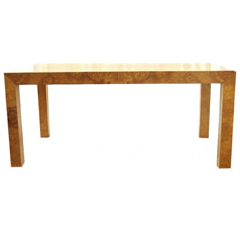 Milo Baughman Burlwood Parsons Table