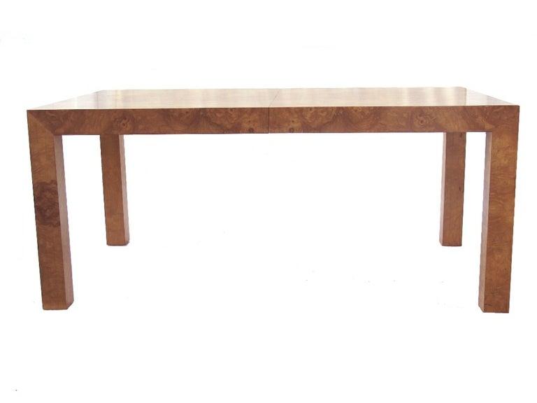 Milo Baughman Burlwood Parsons Table image 2