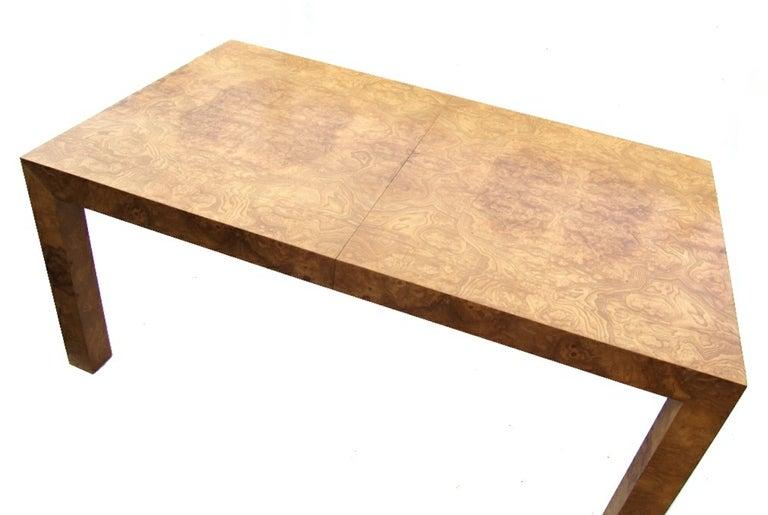 Milo Baughman Burlwood Parsons Table image 3
