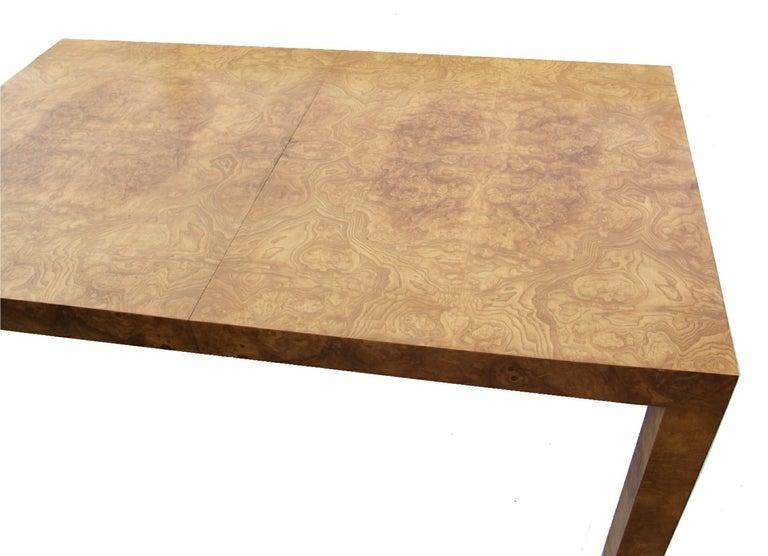 Milo Baughman Burlwood Parsons Table image 4