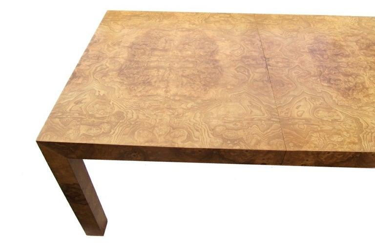 Milo Baughman Burlwood Parsons Table image 5