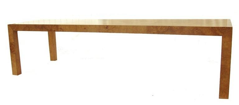 Milo Baughman Burlwood Parsons Table image 6