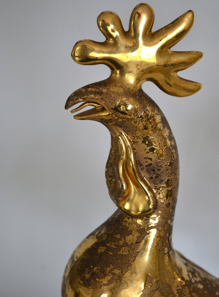 Hollywood Regency Style Rooster Form Table Lamp By Sascha