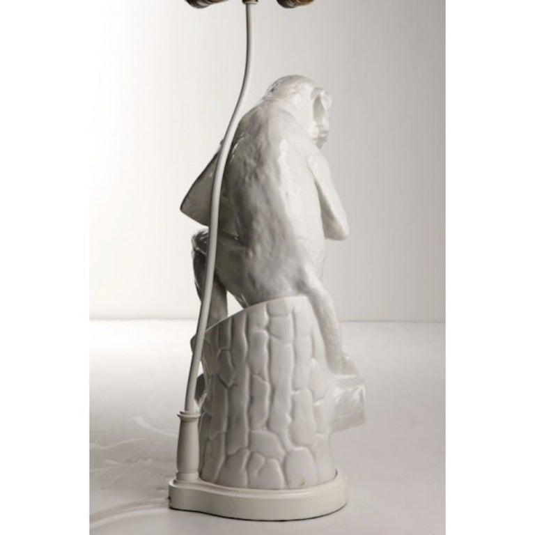 1970s Blanc De Chine Porcelain Monkey Form Lamp At 1stdibs