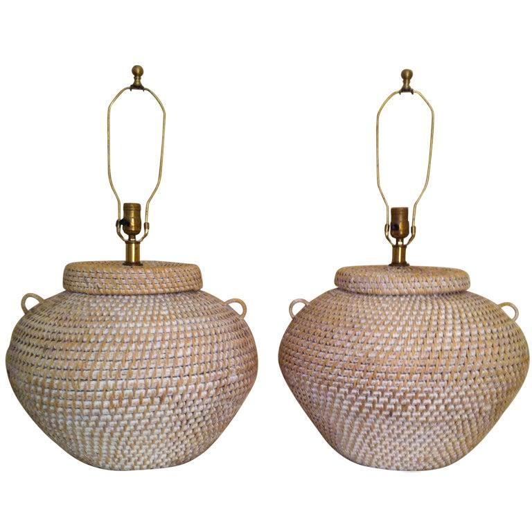 Woven Basket Lamp : Xxx image g