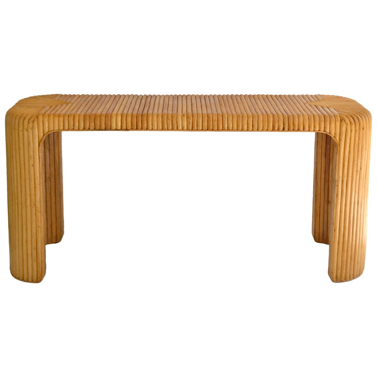 Marvelous photograph of Split Rattan Console Table at 1stdibs with #512100 color and 1280x1280 pixels