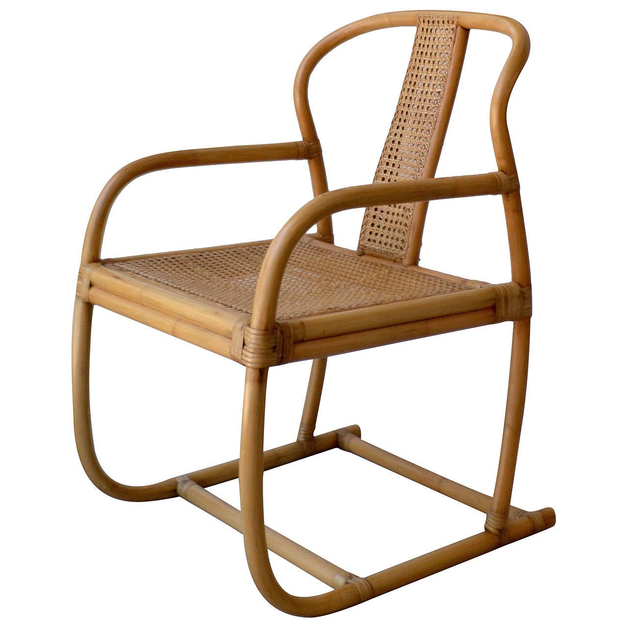 Mid century bent bamboo occasional chair at 1stdibs Mid century chairs
