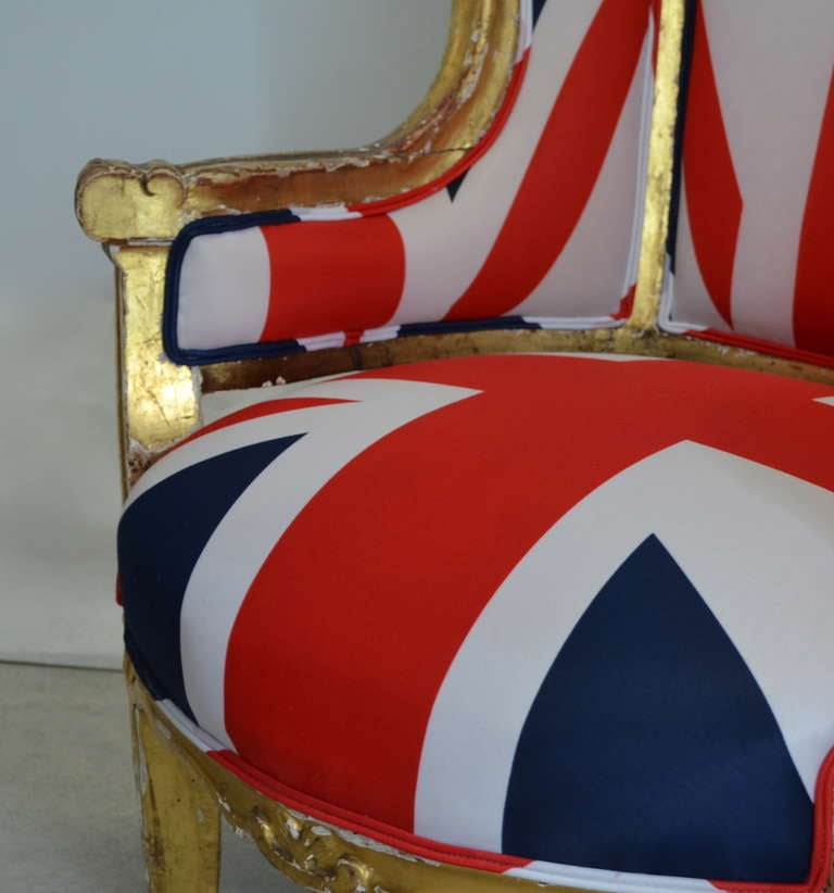 Pair of French Louis XV Style Bergeres For Sale 3